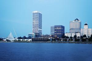 Usa, Wisconsin, Milwaukee, Cityscape before Sunrise by Henryk Sadura