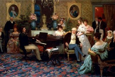 Chopin Playing the Piano in Prince Radziwill's Salon, 1887