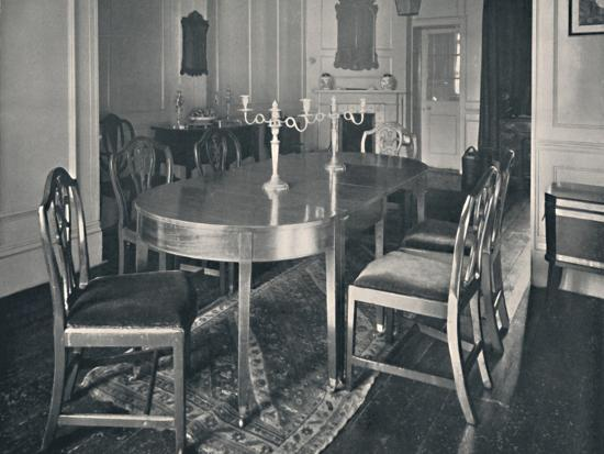 'Hepplewhite Mahogany Dining-Room Furniture', (1760-1770)', 1928-Unknown-Photographic Print