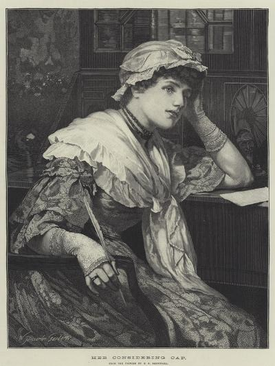 Her Considering Cap-Edward Frederick Brewtnall-Giclee Print