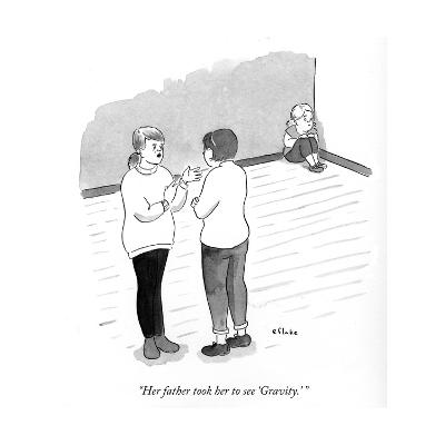 """""""Her father took her to see Gravity."""" - Cartoon-Emily Flake-Premium Giclee Print"""