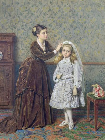 Her First Communion-George Goodwin Kilburne-Giclee Print