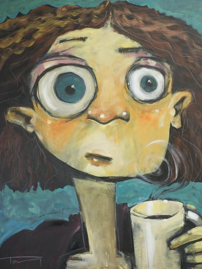 Her First Sip of Coffee-Tim Nyberg-Giclee Print