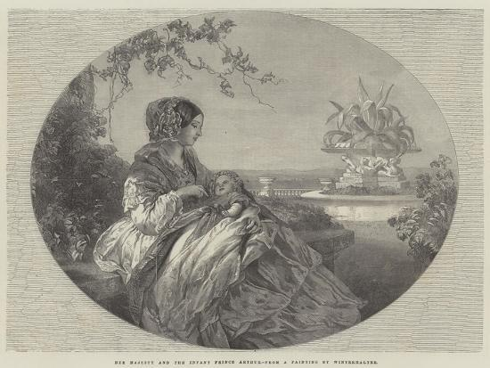 Her Majesty and the Infant Prince Arthur-Franz Xaver Winterhalter-Giclee Print