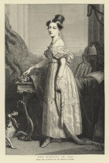 Her Majesty in 1836-Sir George Hayter-Giclee Print