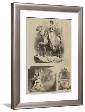 Her Majesty in the City of London--Framed Giclee Print