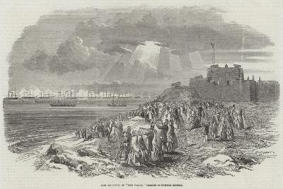 Her Majesty, in The Fairy, Passing Southsea Castle--Giclee Print