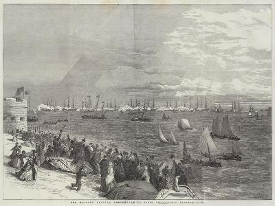 Her Majesty Leaving Portsmouth to Visit the Baltic Fleet--Giclee Print