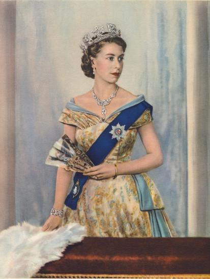 'Her Majesty Queen Elizabeth II', c1953-Unknown-Giclee Print