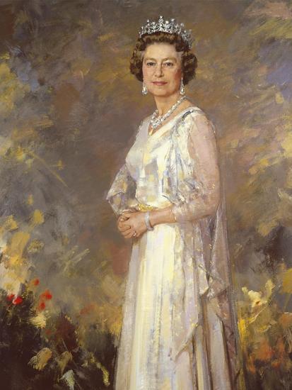 Her Majesty Queen Elizabeth Ii Premium Giclee Print By R Macarron Art Com