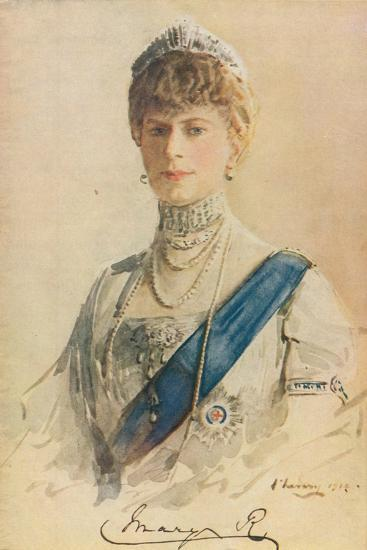 Her Majesty Queen Mary, 1913-John Lavery-Giclee Print