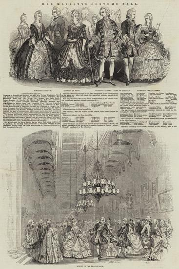 Her Majesty's Costume Ball--Giclee Print