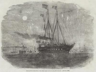 Her Majesty's Departure, the Royal Yacht Leaving Boulogne Harbour--Giclee Print