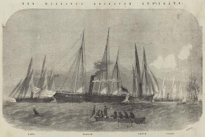 Her Majesty's Despatch Gun-Boats, Lynx, Beagle, Arrow, and Viper-Edwin Weedon-Giclee Print