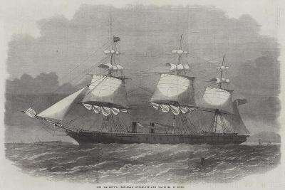 Her Majesty's Iron-Clad Steam-Frigate Warrior, 40 Guns-Edwin Weedon-Giclee Print