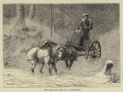 Her Majesty's Mail in a Snowstorm-William Ralston-Giclee Print