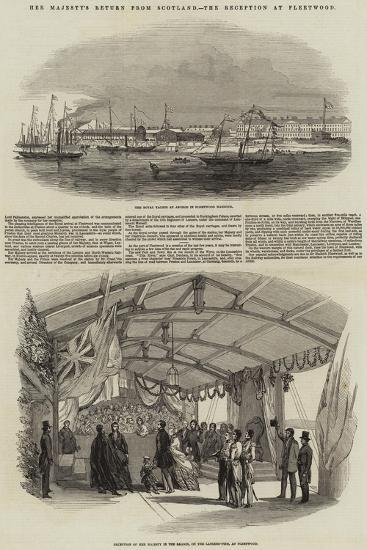 Her Majesty's Return from Scotland, the Reception at Fleetwood--Giclee Print