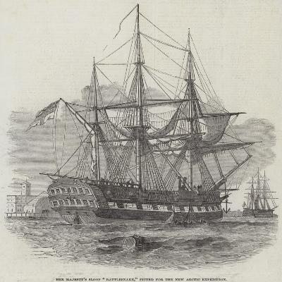 Her Majesty's Sloop Rattlesnake, Fitted for the New Arctic Expedition--Giclee Print