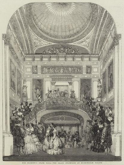 Her Majesty's State Ball, the Grand Staircase at Buckingham Palace--Giclee Print