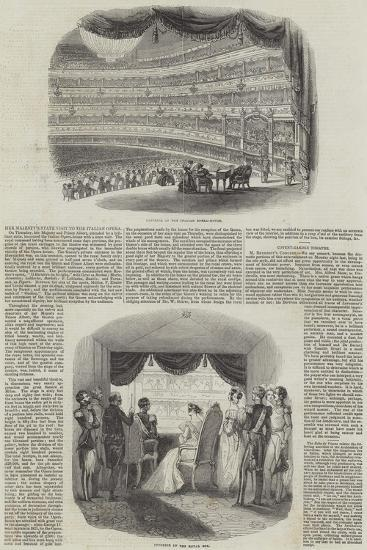 Her Majesty's State Visit to the Italian Opera--Giclee Print
