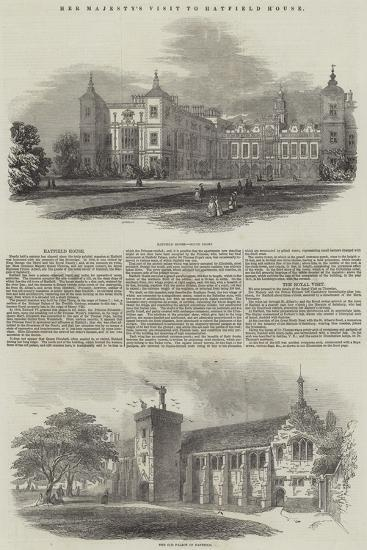 Her Majesty's Visit to Hatfield House--Giclee Print