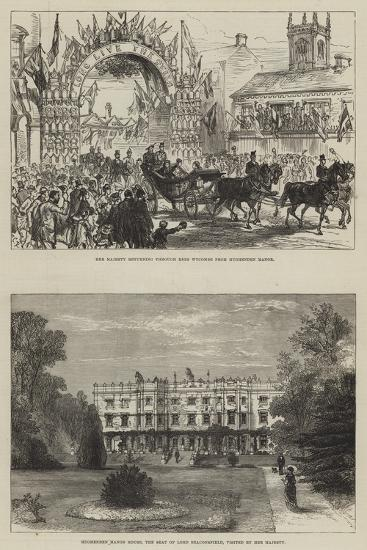 Her Majesty's Visit to Hughenden-Charles Robinson-Giclee Print