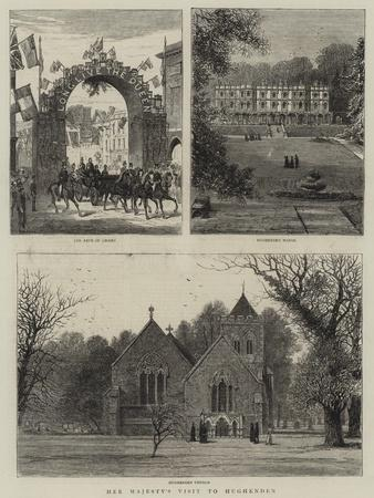 Her Majesty's Visit to Hughenden--Giclee Print