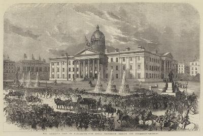 Her Majesty's Visit to Manchester, the Royal Procession Passing the Infirmary--Giclee Print