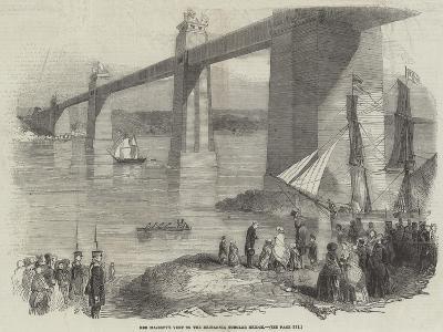 Her Majesty's Visit to the Britannia Tubular Bridge--Giclee Print