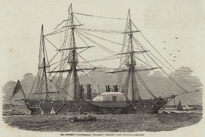 Her Majesty's War-Steamer Terrible, Sketched from Woolwich Dockyard--Giclee Print
