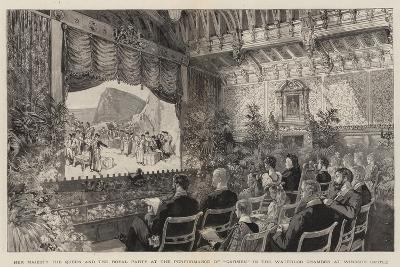 Her Majesty the Queen and the Royal Party at the Performance of Carmen in the Waterloo Chamber at W--Giclee Print