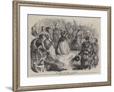 Her Majesty the Queen at Inverary--Framed Giclee Print