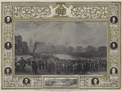 Her Majesty the Queen Distributing Medals to the Heroes from the Crimea on the Horse Guards Parade-George Housman Thomas-Giclee Print