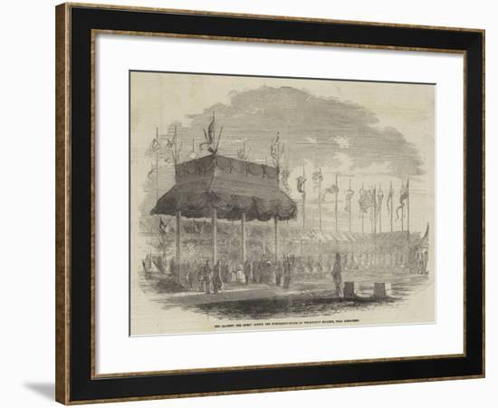 Her Majesty the Queen Laying the Foundation-Stone of Wellington College, Near Sandhurst--Framed Giclee Print
