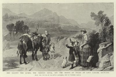 Her Majesty the Queen, the Princess Royal, and the Prince of Wales at Loch Laggan, Scotland-Edwin Landseer-Giclee Print
