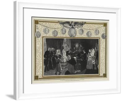 Her Majesty the Queen Visiting the Tomb of Napoleon I in the Invalides, Paris, 1855-Edgar Melville Ward-Framed Giclee Print