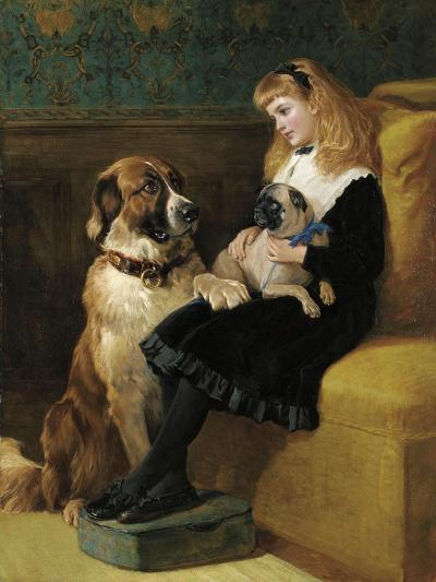 Her Only Playmates, 1870-Heywood Hardy-Giclee Print