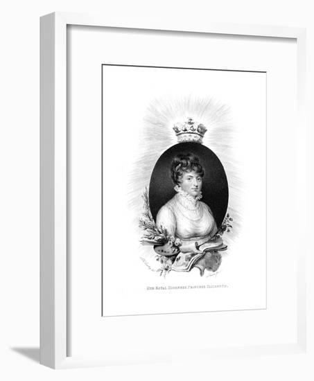 Her Royal Highness the Princess Elizabeth, 3rd Daughter of George Iii, 1806-Scriven-Framed Premium Giclee Print