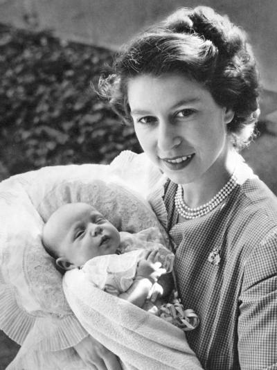 Her Royal Highness the Princess Elizabeth Holding Her Daughter Princess Anne, England-Cecil Beaton-Photographic Print