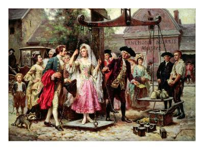 Her Weight in Gold-Jean Leon Jerome Ferris-Giclee Print