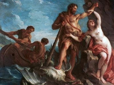 Heracles Delivering Hesione, C1708-1737-Francois Lemoyne-Giclee Print
