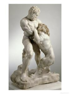 Heracles Fighting the Nemean Lion, 4th Century BC