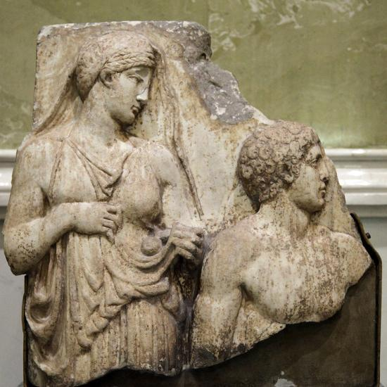 Heracles in the Garden of the Hesperides, Fragment of a Relief, Early 2nd Century--Photographic Print