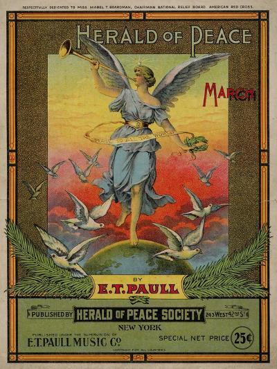 Herald of Peace March, Sam DeVincent Collection, National Museum of American History--Art Print
