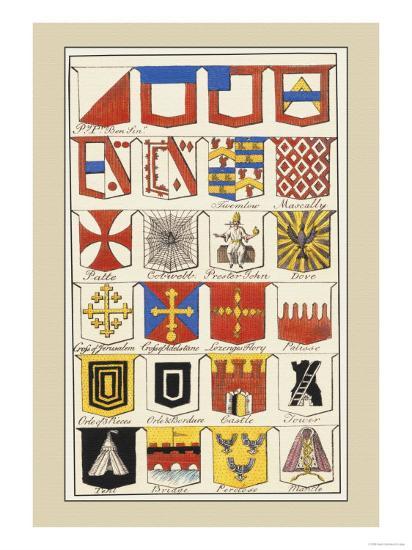 Heraldic Arms: Twemlow and Mascally-Hugh Clark-Art Print