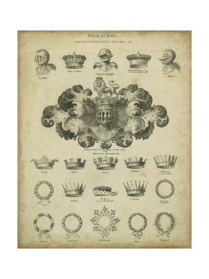 Heraldic Crowns and Coronets I-Milton-Art Print