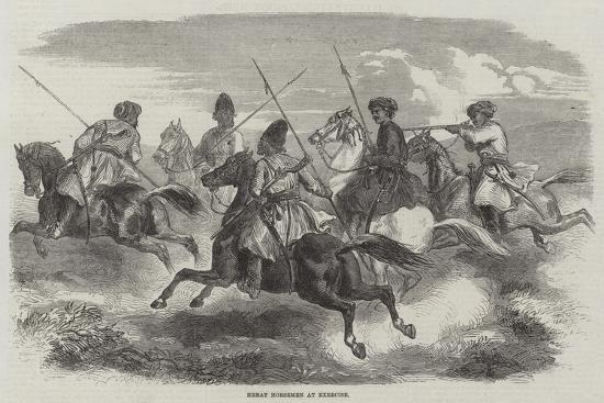 Herat Horsemen at Exercise--Giclee Print