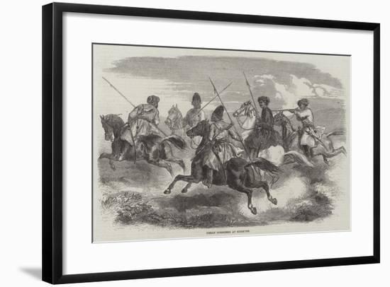 Herat Horsemen at Exercise--Framed Giclee Print