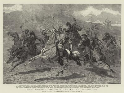 Herati Horsemen Playing the Baz Gadeh Bazi or Goat-Neck Game--Giclee Print