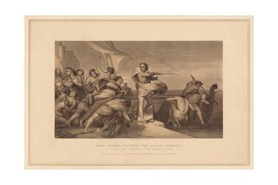 'King Alfred Inciting The Anglo Saxons', (1878)